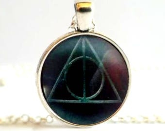 Harry Potter Deathly Hallows Symbol Necklace Pendant