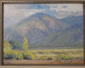 Stunning Original Oil Painting By Listed Artist, Curt Walters, Taos Fall, Signed.