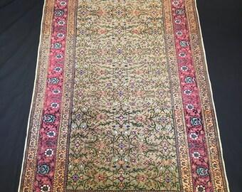 3'9'' x 6'1'' (114 cm x 184 cm), Kayseri Rug, Very Detailed Anatolian Rug, Flowers Pattern Turkish Rug