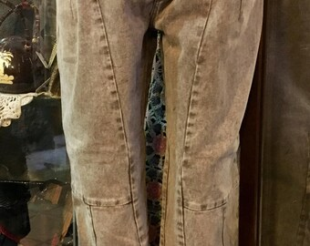 1990' Zic-Zac light brown high waisted mom jeans. Size S/M.