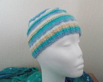 Teenagers Striped Beanie Hat