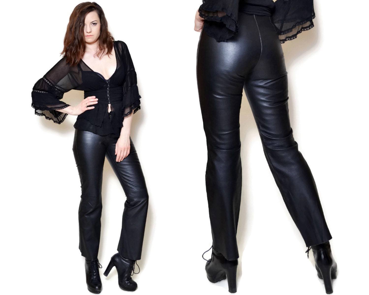 Women Leather Pants from the best designers on YOOX. Discover our wide array of products and shop online: easy, quick returns and secure payment!