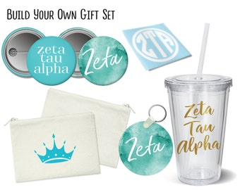ZTA Zeta Tau Alpha Build Your Own Gift Set Sorority Bid Day Graduation Big Little