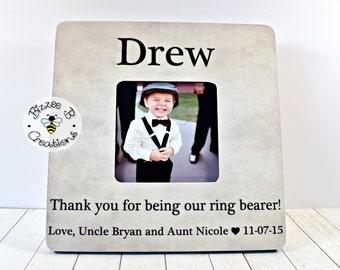 ON SALE Ring Bearer Thank You Frame, Personalized Wedding Thank You, Thank you for being our Ring Bearer, Wedding Party Gift, Ring Bearer Gi