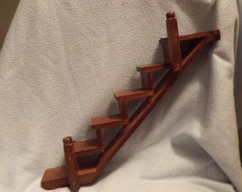 WOOD STAIR STEP Wall Shelf, Wall Decor, Nick Knack Stair Shelf, Figurine  Shelf