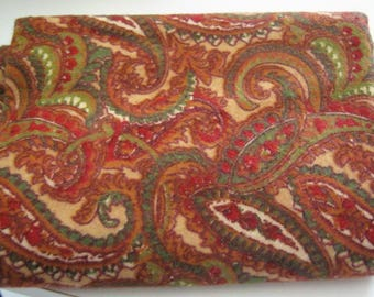 Marcus Brothers Flannel Paisley Fat Quarter*Flannel Fat Quarter*Warm Colors*Quilting Fabric*Sewing Fabric*Home Dec*Rust* Green*Tan*Burgandy