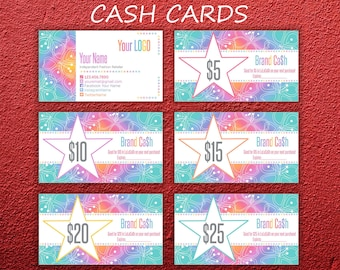 LLR Cash Cards * Home Office Approved Fonts & Colors * Roe Cash * Gift Certificate * Rainbow Design * LLR Cash Card * LuLaCash