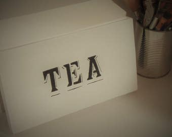 Tea Box Wood-Tea Chest-Tea Organizer-Tea Storage-Tea Bag Box-Wooden-Tea Lover Gift-