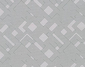 Fragmental Circuit Fabric - Ash - Sold by the 1/2 Yard