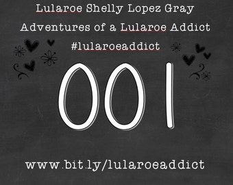Lularoe Online Live Stream Tag Numbers for Hangers 1 - 250