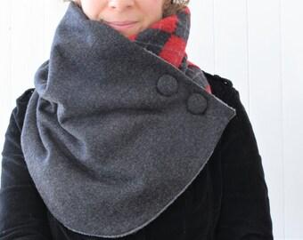 Neck warmer, winter scarf, women scarf, upcycled clothing, zel ecodesign