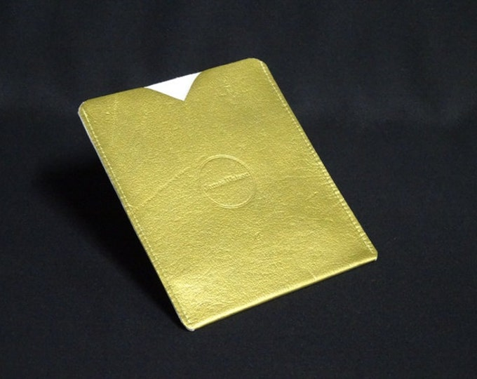 Passport Sleeve - Gold - Kangaroo leather with optional RFID chip blocking - Handmade - James Watson