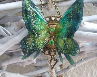 Deep green fairy wings