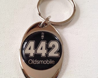 Olds 442 Keychain Chrome Plated Oldsmobile Key Chain