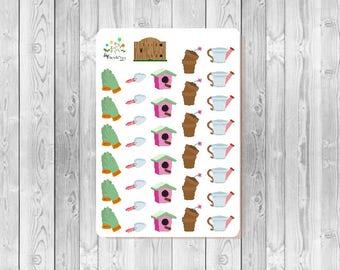 S017 - 35 Gardening Planner Stickers
