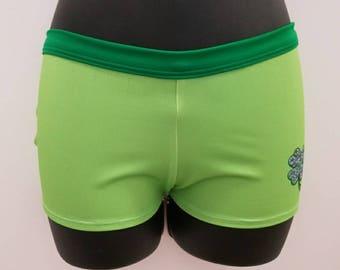 Custom plain neon green tinkerbell athletic shorts for jasmine!