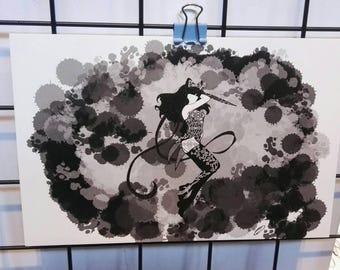 "Blake Belladonna from RWBY mandala print 4x6"""