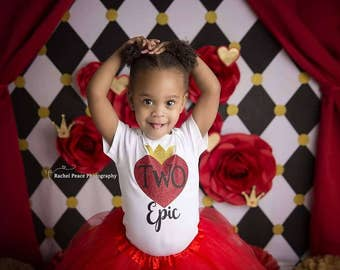 Queen of hearts inspired birthday shirt - one - two