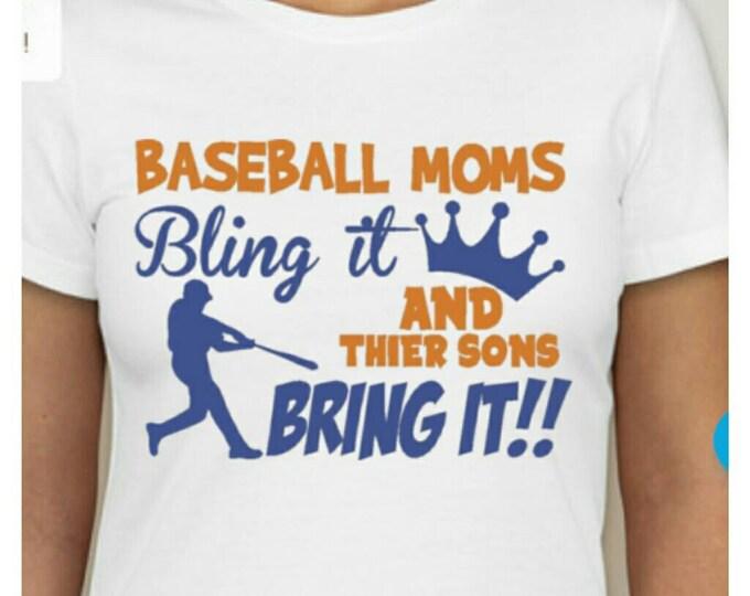 Baseball moms bling shirts