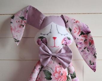 Sleepy bunny. Bunny doll. Sleepy toy.
