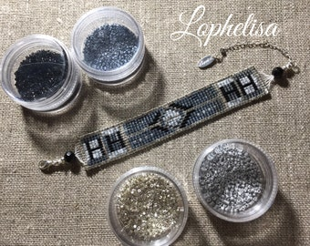 Miyuki bead weaving bracelet 925 sterling silver