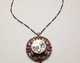 Copper steampunk necklace