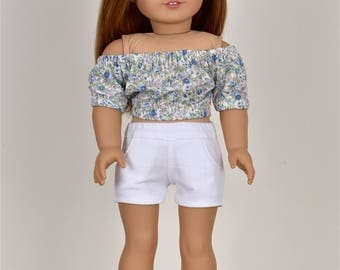 Taylor Country Top 18 inch doll clothes Off The Shoulder