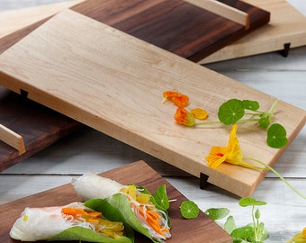 Sushi Board, Cheese Board, Sashimi, Cutting Board, Maple Wood, Serving Tray, Engraved