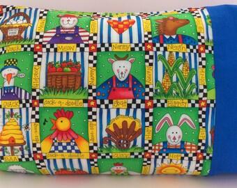 Old MacDonald, Farm Bedding, Farm Animals, Toddler Pillow Case, Boy Pillowcase, Animal Bedding, Kid's Pillow Case, Girl Pillowcase