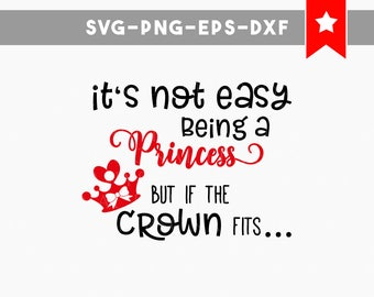 if the crown fits svg, princess svg, funny svg, svg files for silhouette, svg files for cricut, baby girl onesie svg, crown svg funny quotes