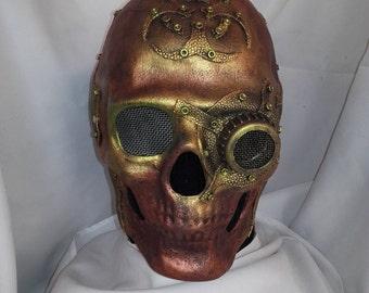 Skull Steampunk  mask, Unique handmade