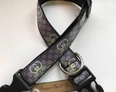 Designer inspired Dog Collar Adjustable dog collar gray and black dog collar boy or girl dog collar dog accessories collar for dogs puppy