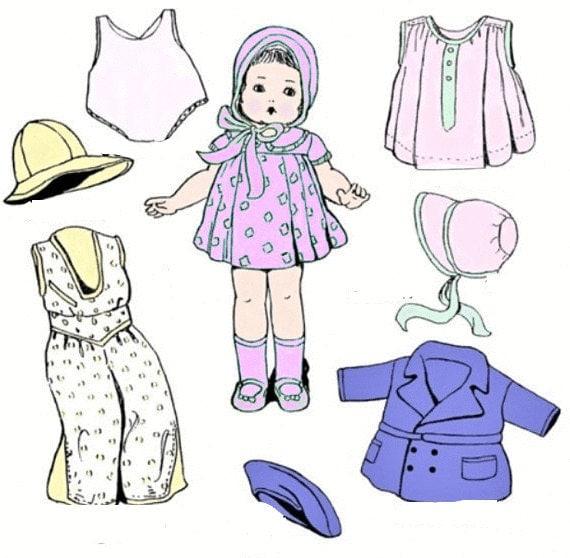 Ropa vintage fácil muñecas patrón de costura PDF para hacer ropa de ...