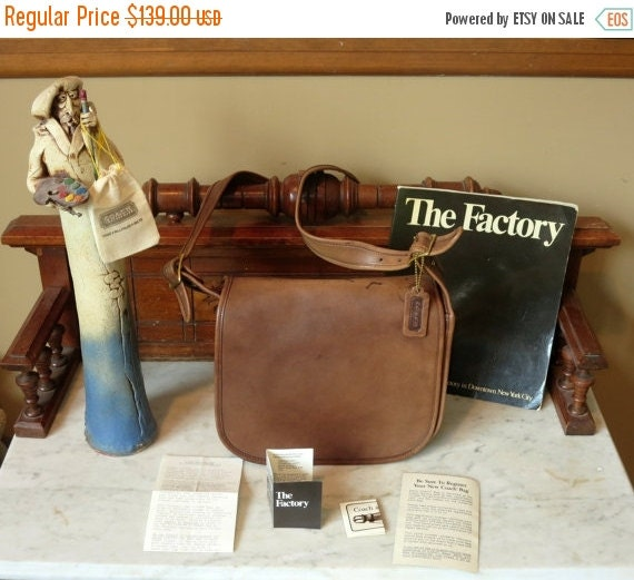 Football Days Sale Coach Classic Shoulder Bag -Mocha Brown Leatherware - Made in New York City U.S.A.- Vgc