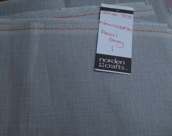 40 ct. Pearl Gray Newcastle Linen (1/8th yard pricing)