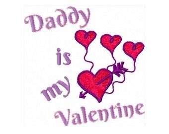 daddy is my valentine embroidery digital embroidery design valentines heart daddys valentine