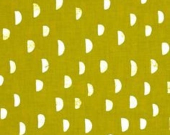 Moons in Grass - Printshop Collection by Alexia Abegg - Cotton + Steel Fabrics - Fat Quarter, Half-Yd or Full Yd - Unbleached cotton quilt