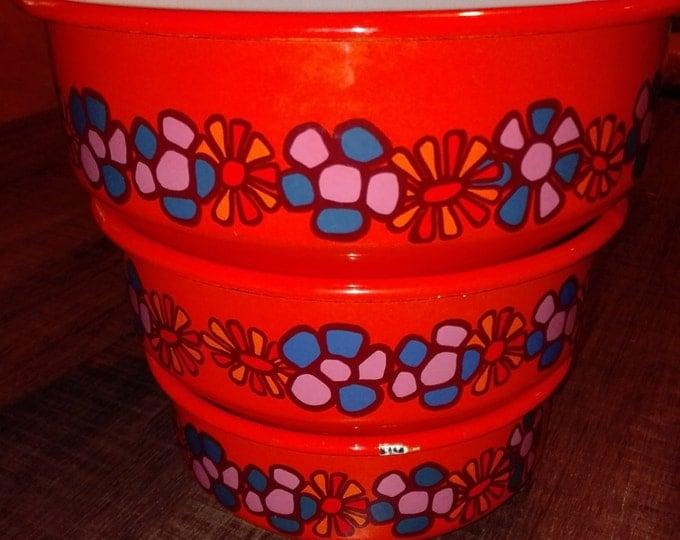 Brabantia Diane enamel nest of bowls