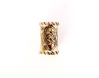 Medium Bronze Beard Ring/ Dreadlock Bead VIKING KRISTALL Kai