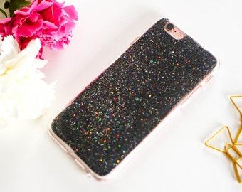 Starry universe black iphone 7 case glitter iphone 7 plus case iphone 6 case sparkle iphone 6 plus case iphone 6s case iphone 6s plus case