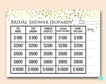 Bridal jeopardy | Etsy