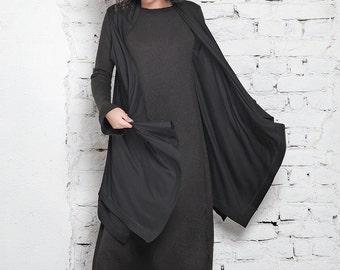 Kimono Cover Up/ Oversized Vest/ Loose Vest/ Long Vest/ Plus Size Cape/ Hooded Vest/ Maxi Vest/ Casual Vest/ Black Cover Up/ Extravagant Top