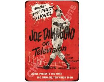1950 Joe DiMaggio on Television Vintage Look Reproduction 8x12 Sign 8120815