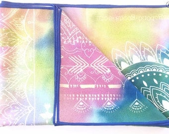 Goa microfiber Yoga towel-yoga-printed yoga mat- tribal yoga mat- arrows- tie dye- boho-feathers-yoga mat-towel-beach-desert print