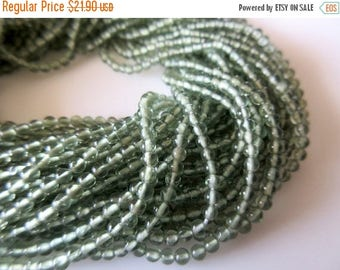 ON SALE 50% Green Apatite Round Beads, 3mm Round Beads, Natural Apatite Beads, Wholesale Gemstones, 13.5 Inch Strand, SKU-2685