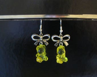 Earrings - sweet yellow gummibears