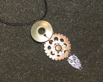 Bobbin Necklace with Owl