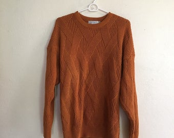 Vintage Burnt Orange Sweater