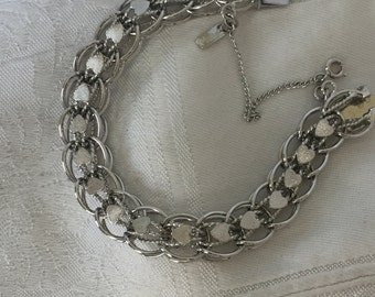 Monet Silver Tone Heart  Bracelet