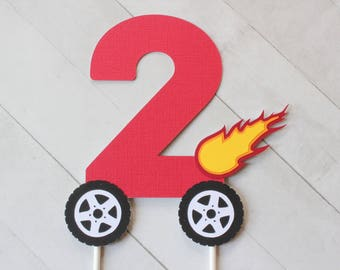 Monster Truck Inspired Number Cake Topper - Blaze and the Monster Machines